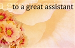 """To A Great Assistant"" : Orange petal (Pack of 50 enclosure cards)"