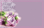 """Happy Mother's Day"" : Purple rose (Pack of 50 enclosure cards)"