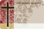 """With Deepest Sympathy"" Wooden cross (Pack of 50 enclosure cards)"