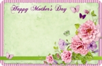 """Happy Mother's Day"" : Green with flowers & butterflies (Pack of 50 enclosure cards)"