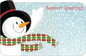 """Season's Greetings"" : RED Snowman (Pack of 50 enclosure cards)"