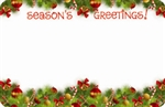 """Season's Greetings"" : Xmas ornament swag (Pack of 50 enclosure cards)"