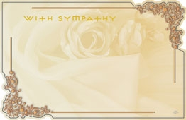 """With Sympathy"" Filagreed corners (Pack of 50 enclosure cards)"
