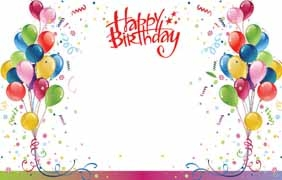 """Happy Birthday"" : Multi-colored balloons (Pack of 50 enclosure cards)"