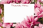 """Thank You"" : Pink flower photo w/ notecard (Pack of 50 enclosure cards)"