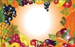 Fruit veggie air brush (Pack of 50 enclosure cards)