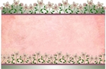Flower border top/bottom (Pack of 50 enclosure cards)