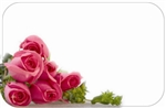 Pink roses lower left (Pack of 50 enclosure cards)