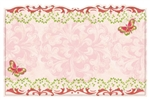 Floral theme butterflies in corners (Pack of 50 enclosure cards)
