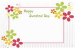 """Happy Sweetest Day"" : Retro flower power (Pack of 50 enclosure cards)"