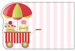 Candy cart pink striped bckrnd (Pack of 50 enclosure cards)