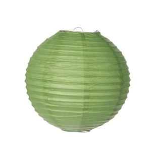 "Battery Operated Paper Lantern 8"" (Green)"
