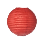 "Battery Operated Paper Lantern 8"" (RED)"
