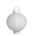 "Battery Operated Paper Lantern 8"" (White)"