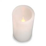 LED Pillar Candle ,White ,4 inches - Ability to switch colors!
