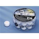 Tea Light WITH FLICKER White LED (Pack of 24)