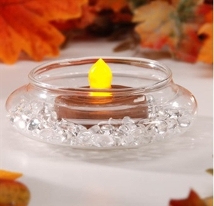 Tea Light Candle Holder Accent - Clear Glass