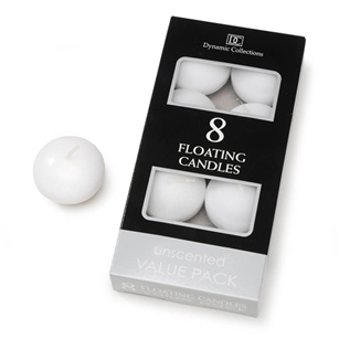 "1.8"" Floating Candle - White (Pack of 8)"