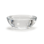 Round Tea Light Holder - Clear Glass