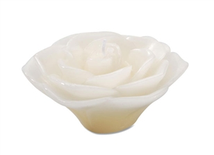 "3"" Rose Floating Candle - Ivory"