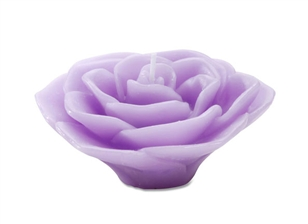 "3"" Rose Floating Candle - Lavender"