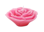 "3"" Rose Floating Candle - Fuchsia"