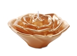 "3"" Rose Floating Candle - Gold"