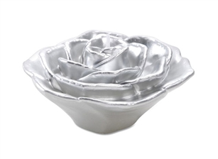"3"" Rose Floating Candle - Silver"