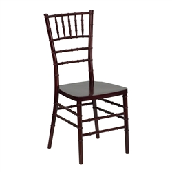 Elegance Mahogany Resin Stacking Chiavari Chair