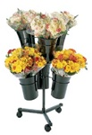 Mobile Flower Display with 6 Vases