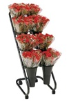 "Mobile Flower Display with 10"" Vases"