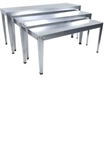 Large Rectangular Nesting Tables Galvanized