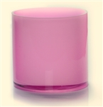 Cylinder Glass Vase 4x4, Pink - CASE OF 24