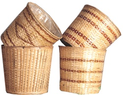 Round Bamboo Pot Basket