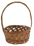 Coco Midrib Basket w/ Handle - 8.5""