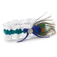 Peacock Feather Garter