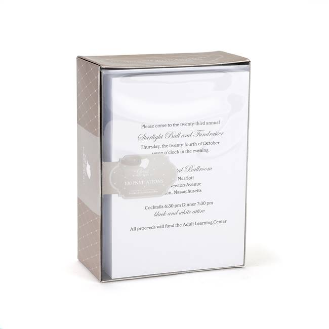 White Invitation Kit
