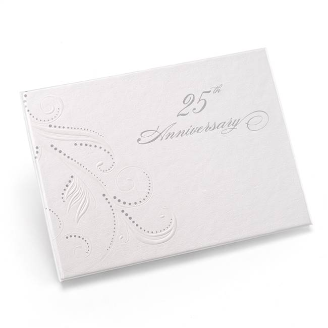 25th Anniversary Swirl Dots Guest Book