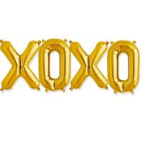"XOXO Balloon Kit - 16"" - Gold"