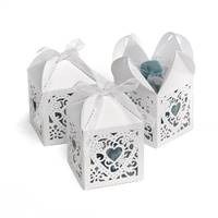 White Square Decorative Favor Boxes