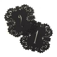 Black Laser Cut Table Number Cards 1-10