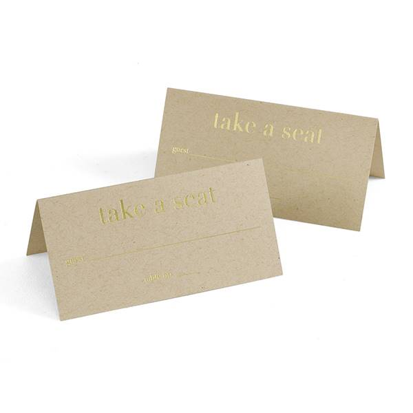 Golden Natural Place Card