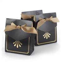 Art Deco Tent Favor Boxes - Gold