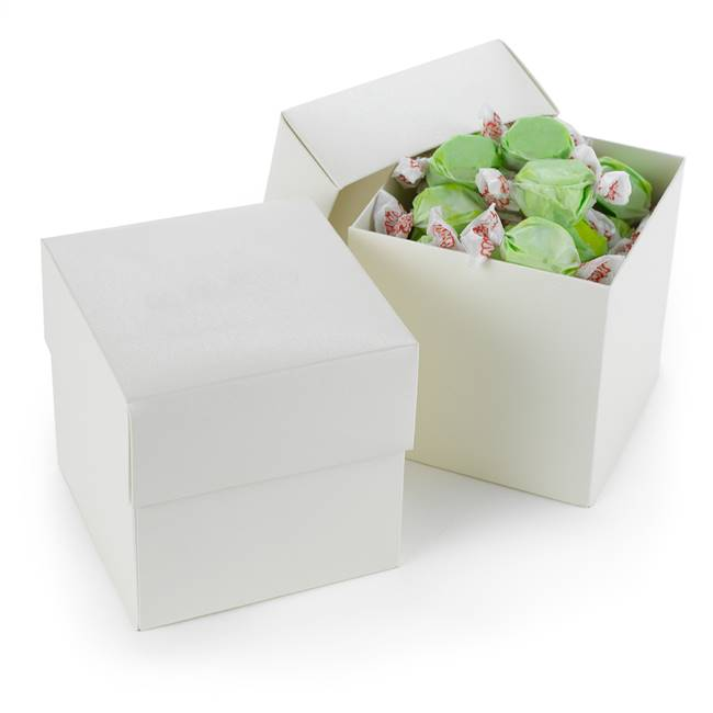 Two Piece Cup Cake Box - Ivory Shimmer