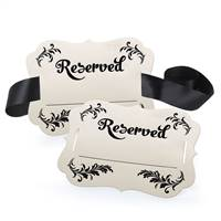 Reserved Chair Decorations - Fill in the Blank
