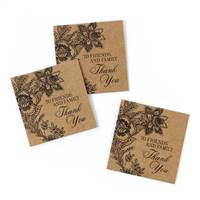 Vintage Floral Kraft Favor Cards