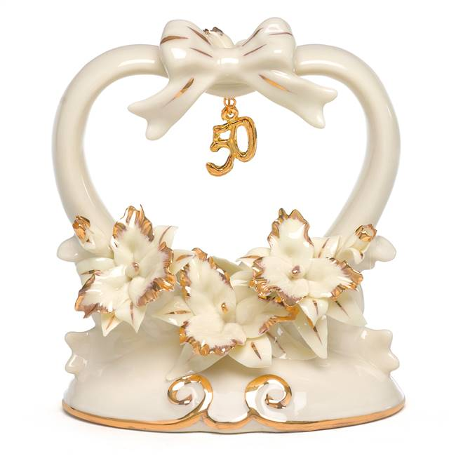50th Anniversary Porcelain Cake Top