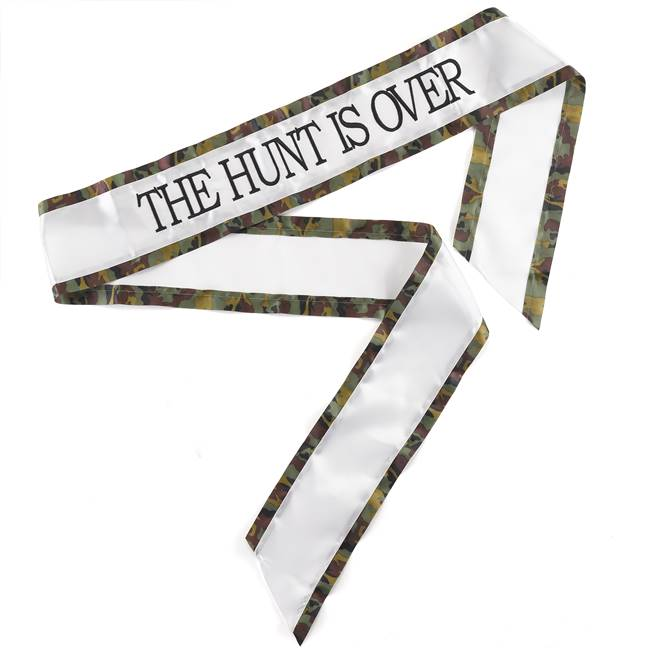 Hunt is Over Sash - Brown Camo