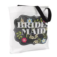 Chalkboard Floral Tote Bag - Bridesmaid - Design Only