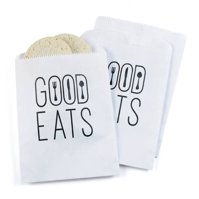 Good Eats Treat Bags - White - Blank